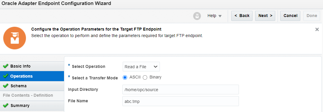 FTP adapter in OIC