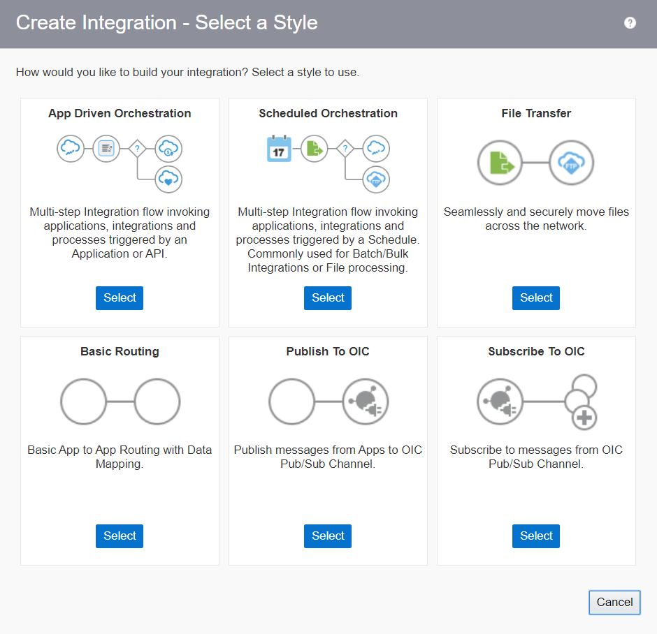Oracle Integration Cloud patterns