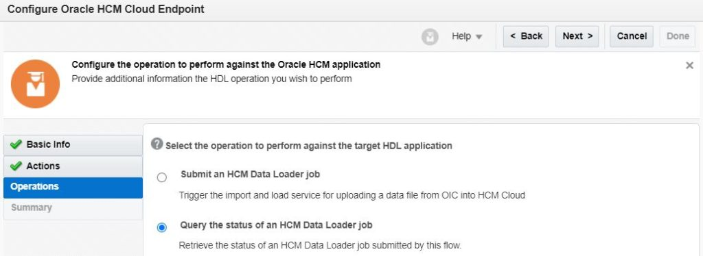 HCM Data loader extract job status