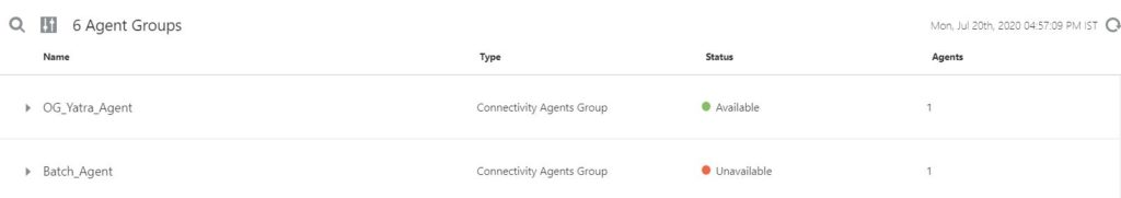 Connectivity Agent in Oracle Integration Cloud