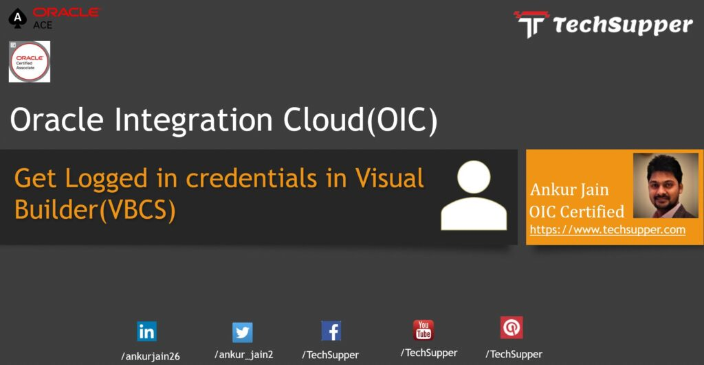 Logged-user Credentials in Oracle VBCS