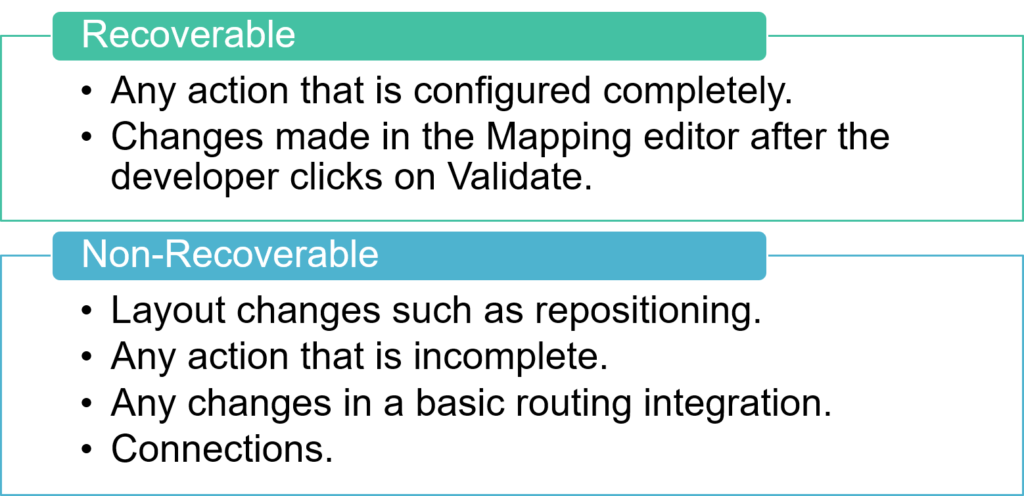 What is recoverable and what's not